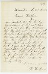 Correspondence from H. Rice to Governor Washburn, August 06, 1862