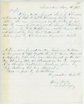 Correspondence from E.B. Lovejoy, August 16, 1862
