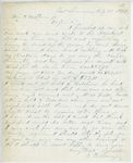 Correspondence from E.B. Lovejoy, August 30, 1862