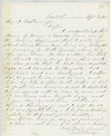 Correspondence from E.B. Lovejoy, September 07, 1862