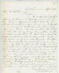 Correspondence from E.B. Lovejoy, September 07, 1862