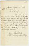 Correspondence from T. M. Bradbury, August 15, 1862