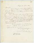 Correspondence from T. M. Bradbury, September 02, 1862