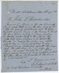 Correspondence from S. S. Strout, August 01, 1862