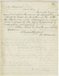 Correspondence from H. Cousens to General Hodsdon, January 01, 1862 by H. Cousens
