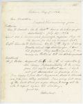 Correspondence from H. Cousens to General Hodsdon, August 07, 1862 by H. Cousens