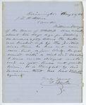 Correspondence from J. Blake to General Hodsdon, August 22, 1862