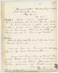 Correspondence from J. Blake to General Hodsdon, August 15, 1862