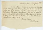 Correspondence from B. T. Parker, August 12, 1862
