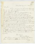 Correspondence from A. Stevens, August 01, 1862