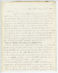 Correspondence from A. Stevens, August 06, 1862