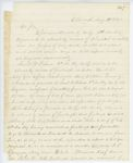 Correspondence from A. Stevens, August 12, 1862