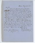 Correspondence to General Hodsdon from A. Stevens, August 20, 1862