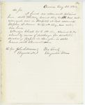 Correspondence to General Hodsdon from A. Stevens, August 25, 1862