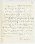 Correspondence from A. Stevens, August 26, 1862