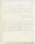 Correspondence from A. Stevens, August 28, 1862