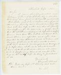 Correspondence from A. Stevens, September 02, 1862