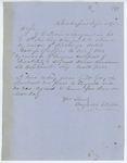 Correspondence from A. Stevens, September 06, 1862