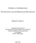 To Begin at the Beginning: Wittgenstein and the Problem of Metaphysics