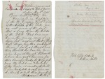 Letter from Woodman Miller to Governor Washburn offering services, May 1861 by Woodman Miller and Israel Washburn