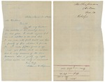 Letter from Catherine W. Chapman to Governor Washburn regarding state aid, November 10, 1861 by Catherine W. Chapman and Israel Washburn