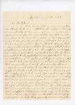 Oliver Butler to John Hodsdon regarding Erastus Proctor, July 5, 1862