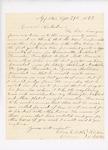 Letter to John Hodsdon Regarding Quota, September 29, 1862 by Oliver Butler
