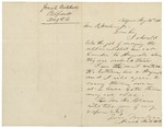 Letter from Josiah Mitchell to Governor Washburn requesting to transport soldiers to Augusta, August 26, 1861