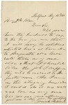 Letter from Josiah Mitchell to James Blaine requesting to transport soldiers to Augusta, August 26, 1861