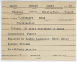 Alien Registration Card- Aalto, Herman L. (Rockport, Knox County) by Herman L. Aalto