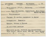 Alien Registration Card- Aebischer, Therese E. (Cape Elizabeth, Cumberland County) by Therese E. Aebischer