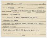 Alien Registration Card- Benkert, Anna (Portland, Cumberland County)