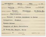 Alien Registration Card- Bettelheim, Edith V. (Bangor, Penobscot County)