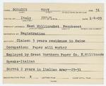 Alien Registration Card- Bonadio, Tony (East Millinocket, Penobscot County)