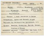 Alien RegistrationSpecial Card- Branzell-Reinshagen, Karin Maria (Ellsworth, Hancock County)