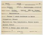 Alien Registration Card- Braun, Louis (Norway, Oxford County)