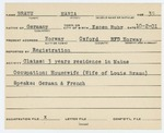 Alien Registration Card- Braun, Maria (Norway, Oxford County) by Maria Braun
