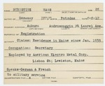 Alien Registration Card- Burnstine, Hans L. (Auburn, Androscoggin County) by Hans L. Burnstine