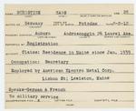 Alien Registration Card- Burnstine, Hans L. (Auburn, Androscoggin County)