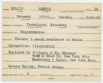 Alien Registration Card- Collin, Hedvig (Vassalboro, Kennebec County) by Hedvig Collin