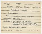 Alien Registration Card- Collin, Hedvig (Vassalboro, Kennebec County)