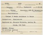 Alien Registration Card- Diehl, John W. (Sidney, Kennebec County)
