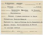 Alien Registration Card- Finkelstein, Herbert (Waterville, Kennebec County)