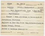 Alien Registration Card- Fuchs, Dr. Felix (Parsonsfield, York County) by Dr. Felix Fuchs