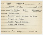 Alien Registration Card- Gomez, Clemencia (South Berwick, York County)