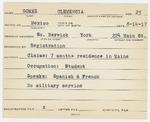 Alien Registration Card- Gomez, Clemencia (South Berwick, York County) by Clemencia Gomez