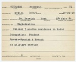 Alien Registration Card- Guerrero, Consuelo (South Berwick, York County)