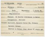 Alien Registration Card- Heidelbaner, Eugen (Bath, Sagadahoc County)
