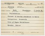 Alien Registration Card- Heidelbauer, Emilie M. (Bath, Sagadahoc County)