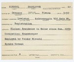 Alien Registration Card- Hirschel, Charlotte (Lewiston, Androscoggin County)